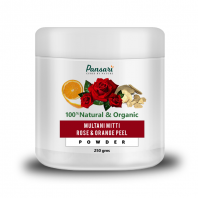 Multani Mitti, Rose & Orange Peel Powder