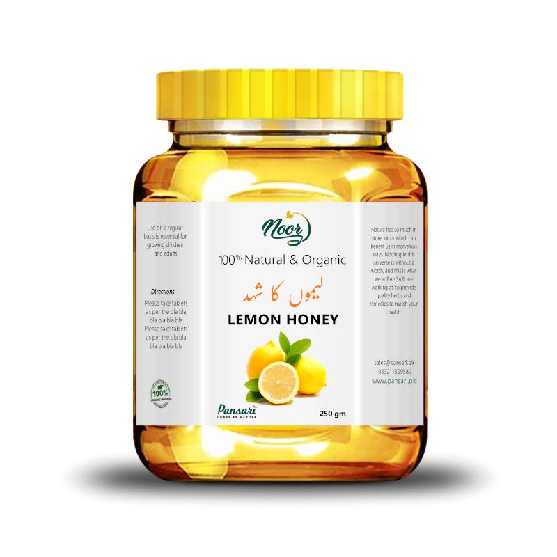 100% Pure Lemon Infused Honey