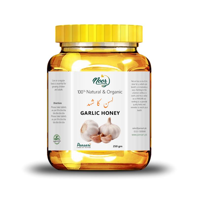 100% Pure Garlic Infused Honey