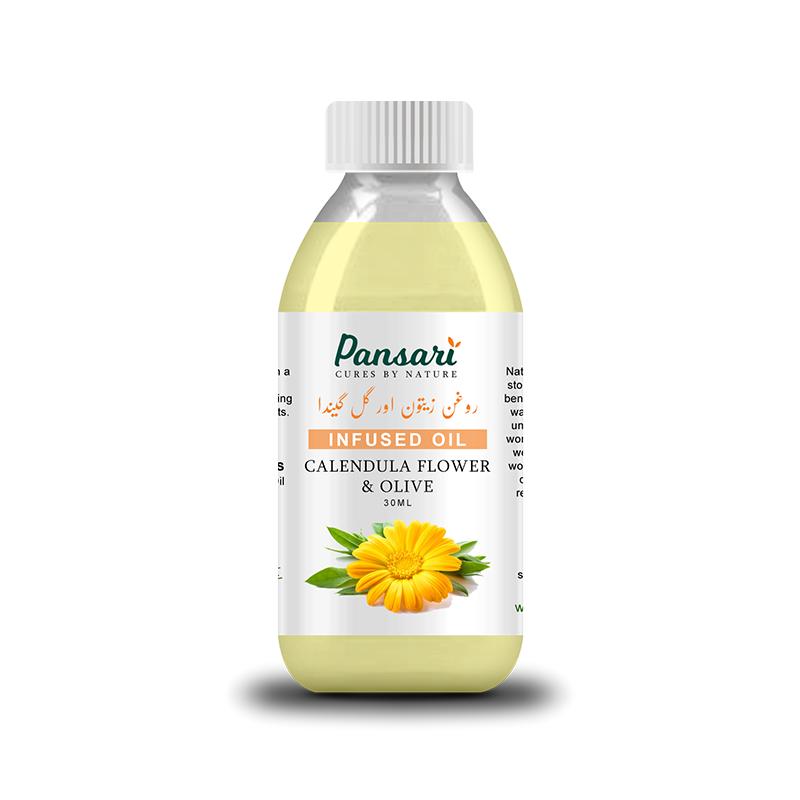 Pansari's Calendula Flower & Olive Infused Oil